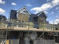 Fibre cement slate roof